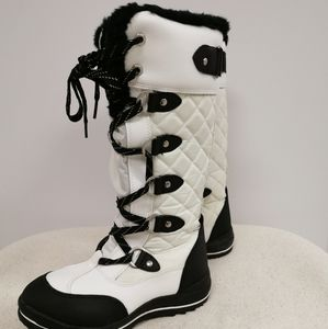 Waterproof Knee High Winter Boots Warm Fur Lined